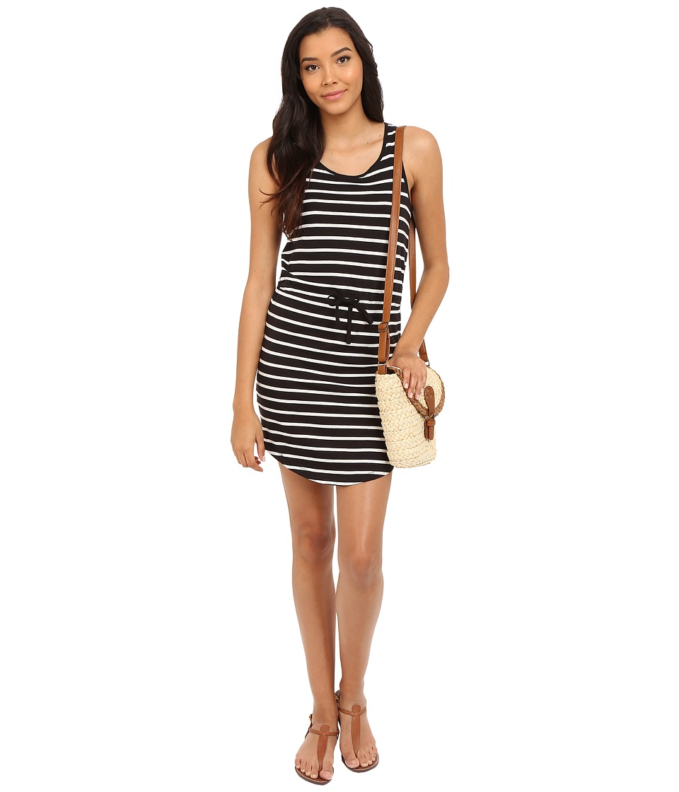 ONLY - May Sleeveless Dress (Black (Striped)) Women's Dress