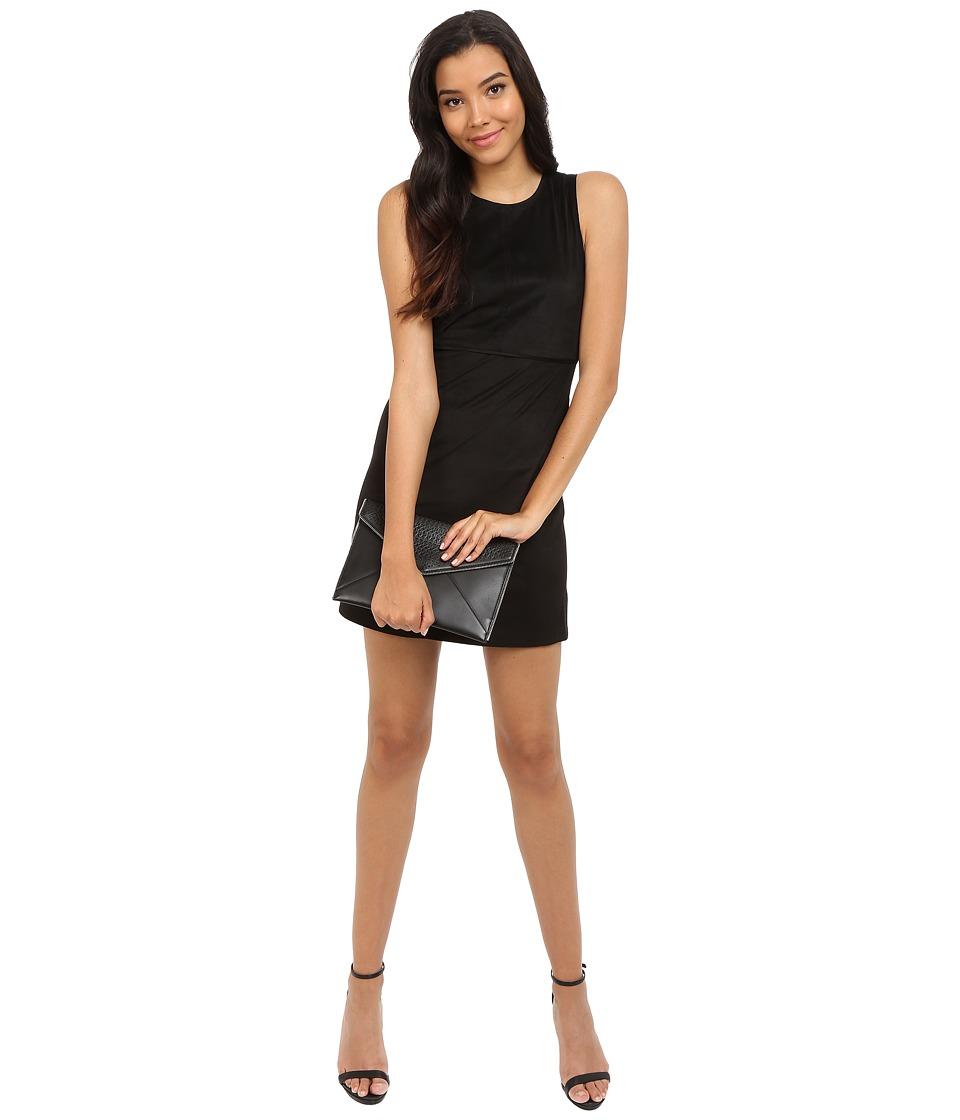 ONLY - Frankie Faux Suede Dress (Black) Women's Dress
