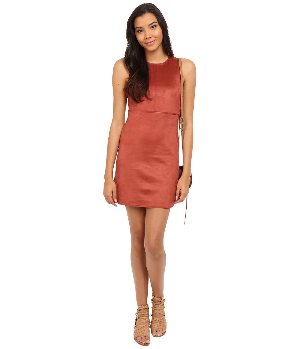 ONLY - Frankie Faux Suede Dress (Marsala) Women's Dress