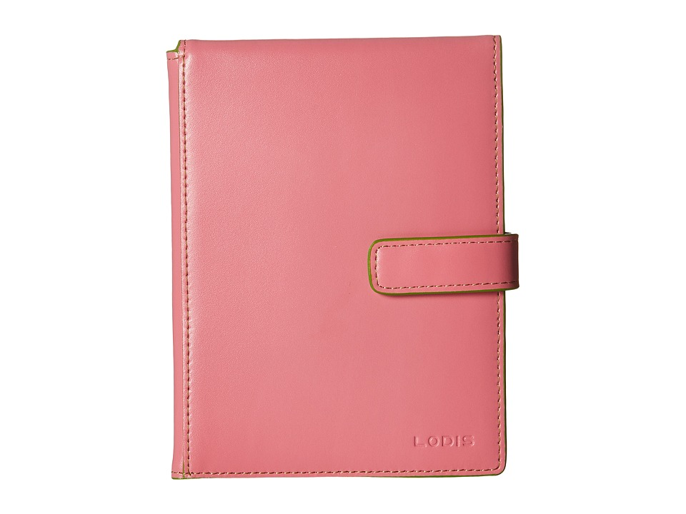 Lodis Accessories - Audrey Flip Ticket/Passport Wallet (Pink/Kiwi) Bi-fold Wallet