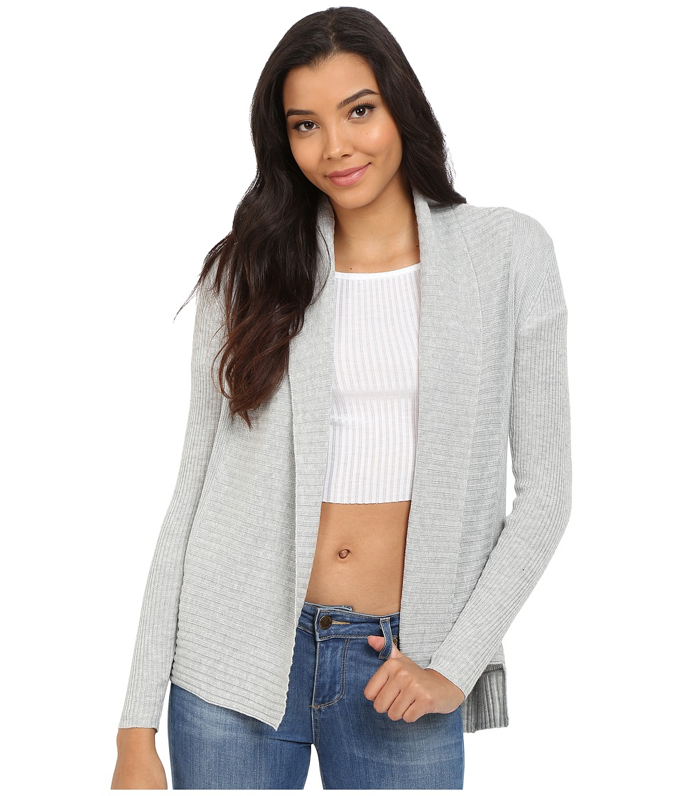 ONLY - Paola Long Sleeve Cardigan (Light Grey Melange) Women's Sweater
