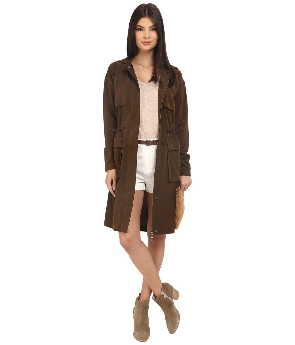 ONLY - Mackenzie Hooded Spring Parka (Beech) Women's Coat