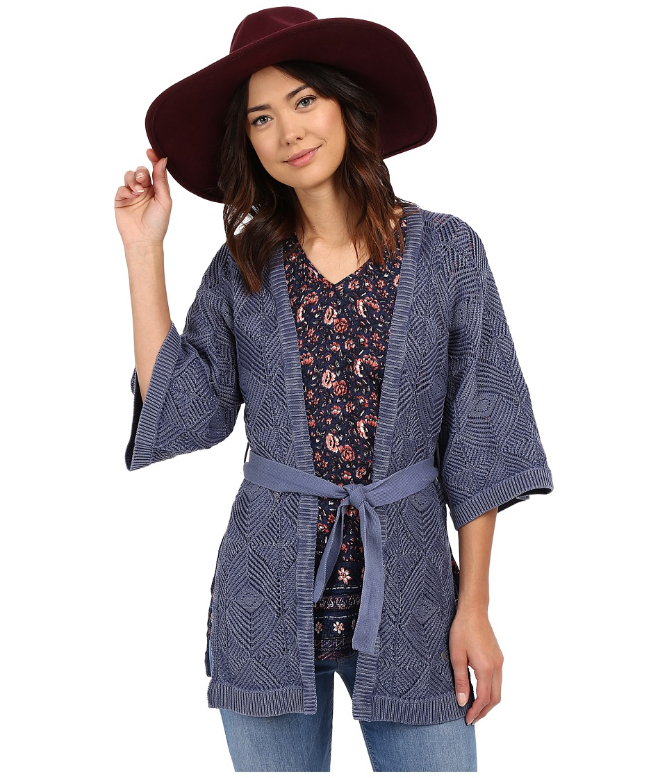 ONLY - Noah 3/4 Long Cardigan (Vintage Indigo) Women's Sweater