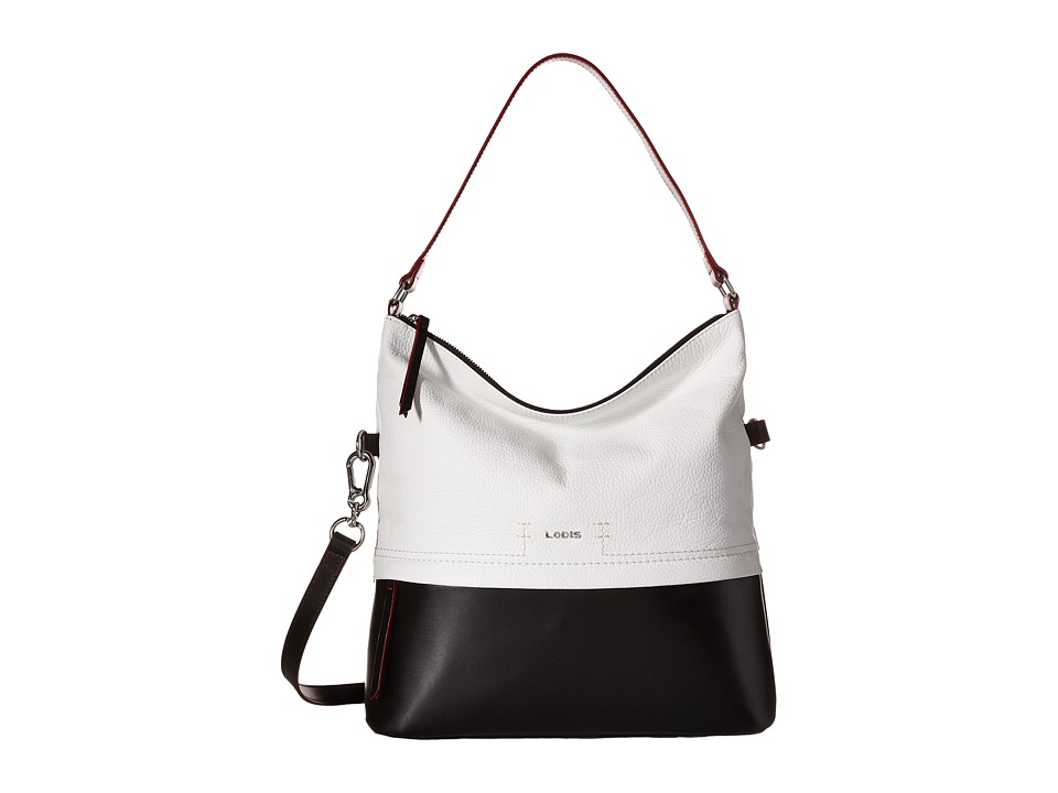 Lodis Accessories - Kate Sunny Hobo (Black/White) Hobo Handbags