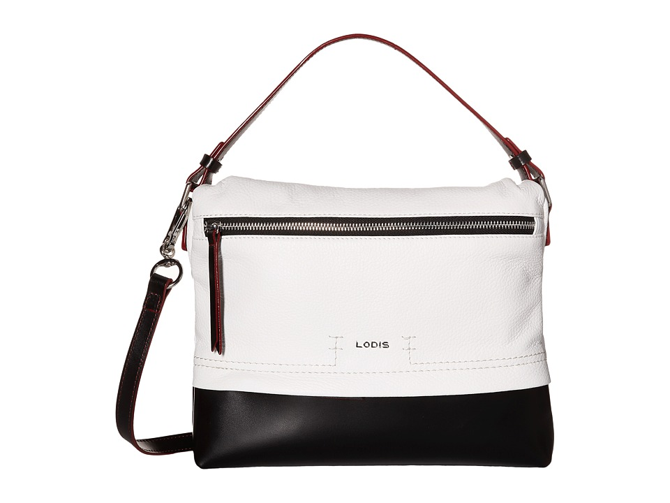 Lodis Accessories - Kate Serina Hobo (Black/White) Hobo Handbags