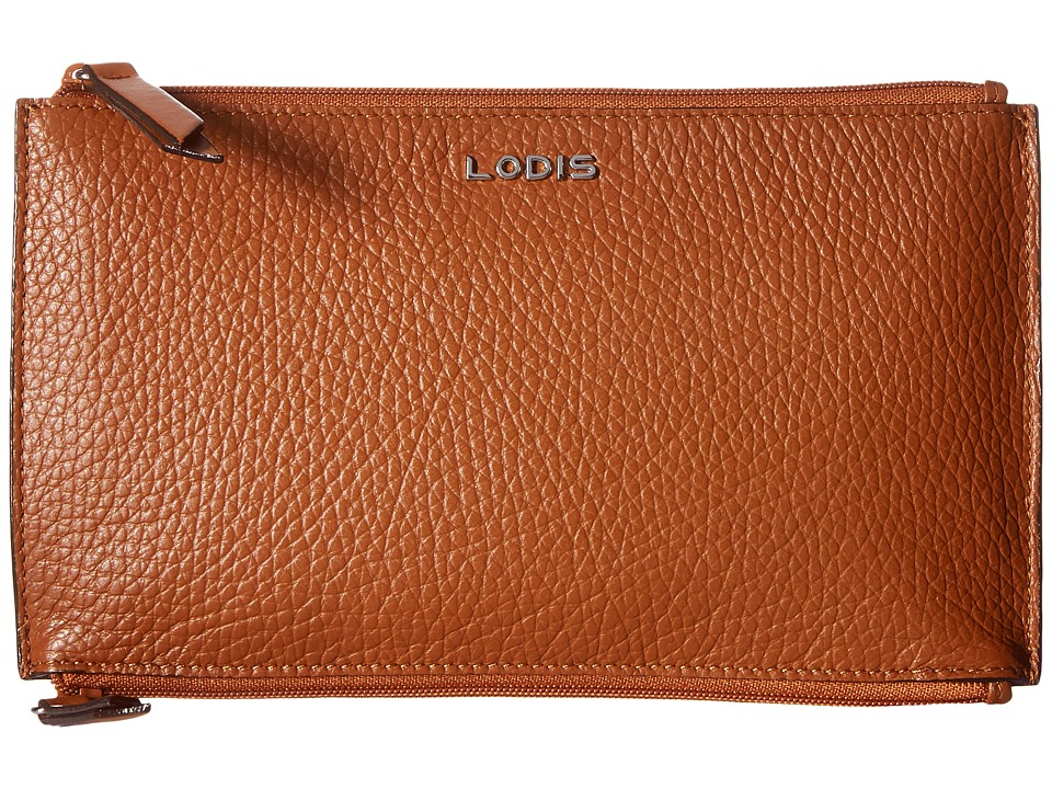 Lodis Accessories - Kate Lani Double Zip Pouch (Toffee) Wallet Handbags