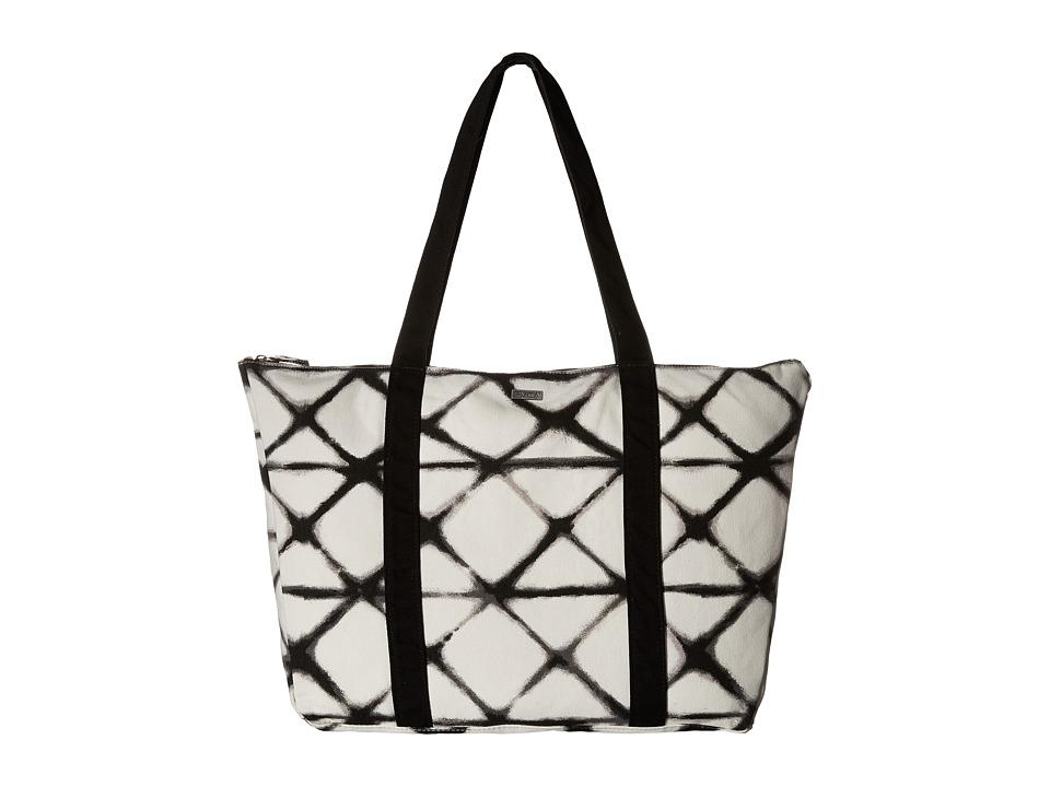 RVCA - Zane Tote (White/Black) Tote Handbags