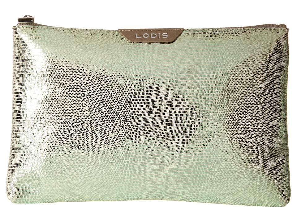 Lodis Accessories - Sophia Glamorous Flat Pouch (Emerald) Wallet