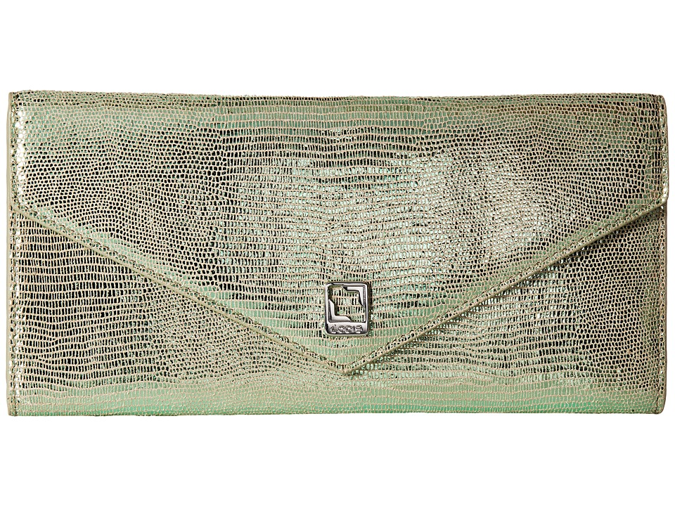 Lodis Accessories - Sophia Glamorous Alix Trifold (Emerald) Wallet Handbags