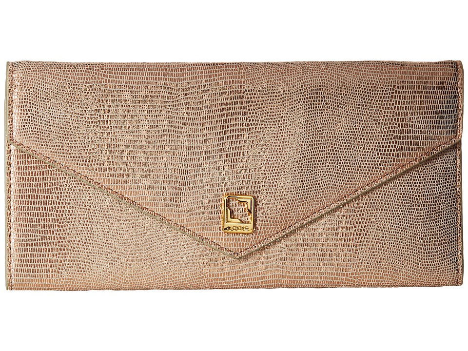 Lodis Accessories - Sophia Glamorous Alix Trifold (Rose Gold) Wallet Handbags