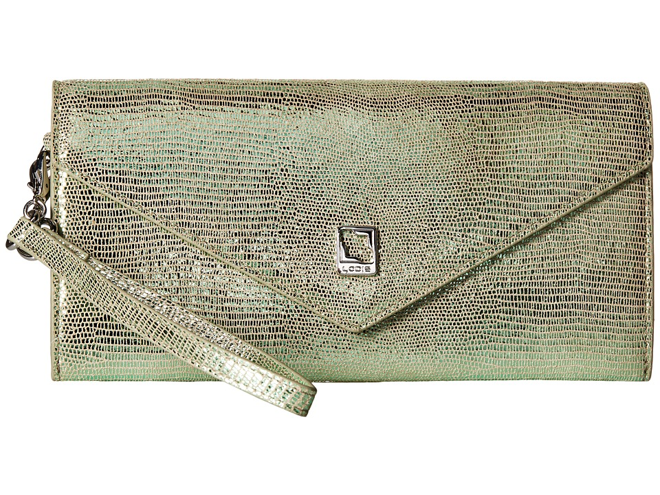 Lodis Accessories - Sophia Glamorous Nina Crossbody (Emerald) Cross Body Handbags