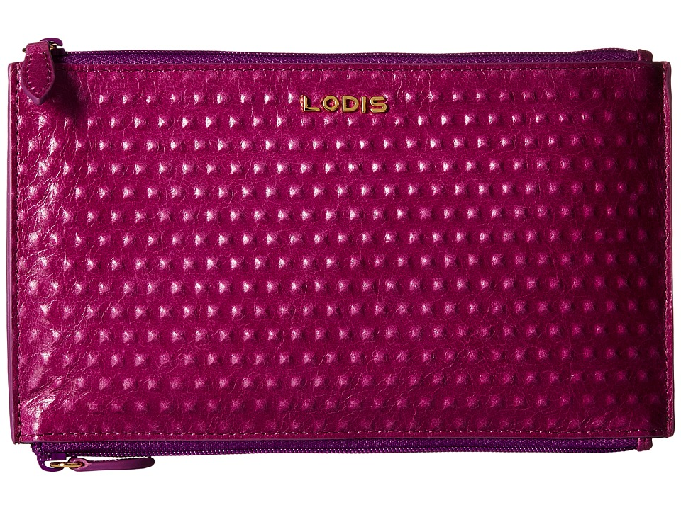 Lodis Accessories - Cadiz Lani Double Zip Pouch (Iris) Wallet