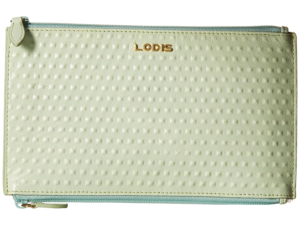Lodis Accessories - Cadiz Lani Double Zip Pouch (Mint) Wallet