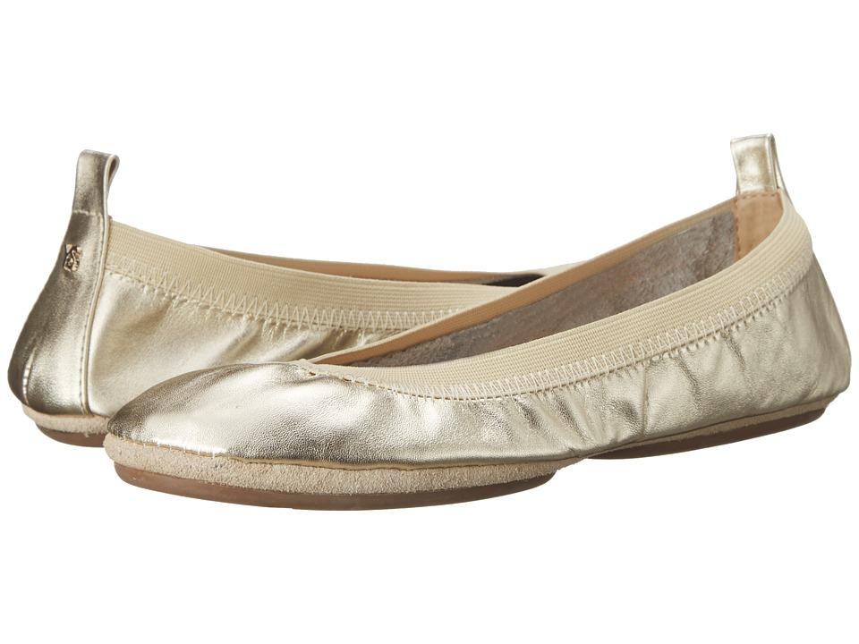 Yosi Samra - Samara Metallic (Gold) Women's Flat Shoes