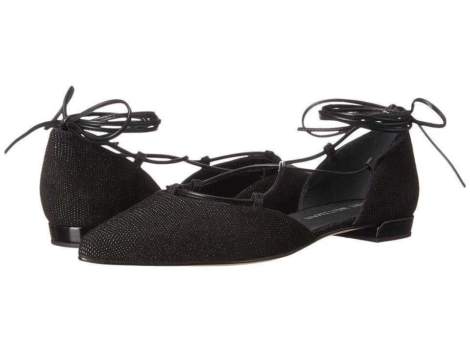 Stuart Weitzman - Gilligan (Black Goose Bump Nappa) Women's Dress Flat Shoes