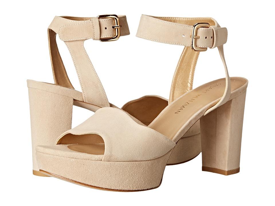 Stuart Weitzman - Realdeal (Buff Suede) Women's Wedge Shoes