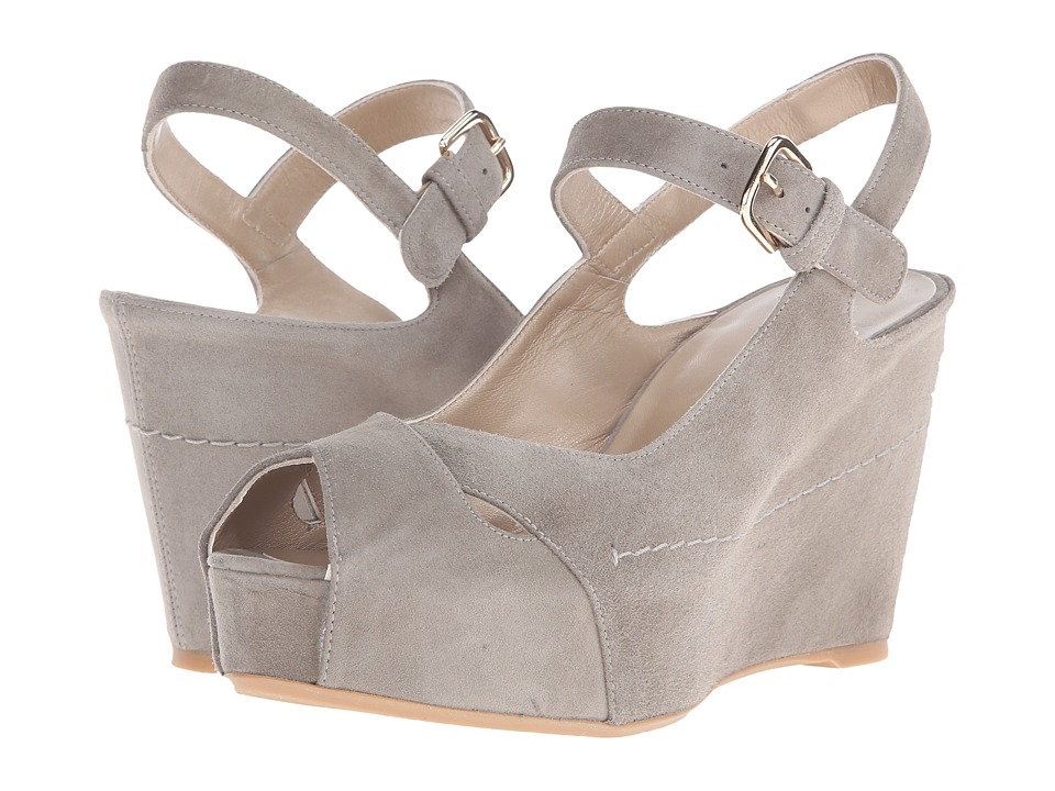 Stuart Weitzman - Turnover (Rock Suede) Women's Wedge Shoes