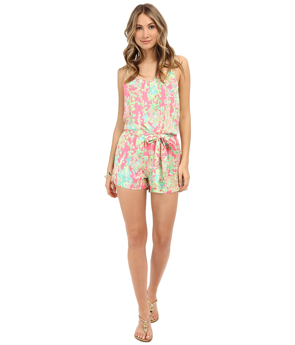 Lilly Pulitzer - Deanna Romper (Flamingo Pink Southern Charm) Women's Jumpsuit & Rompers One Piece