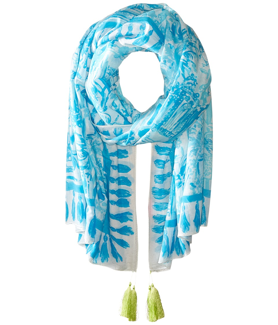 Lilly Pulitzer - Cabana Scarf (Resort White La Via Loca Engineered) Scarves