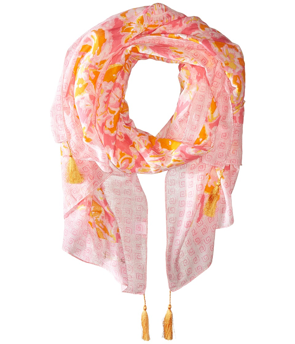 Lilly Pulitzer - Cabana Scarf (Kir Royal Pink Ooh La La Engineered) Scarves