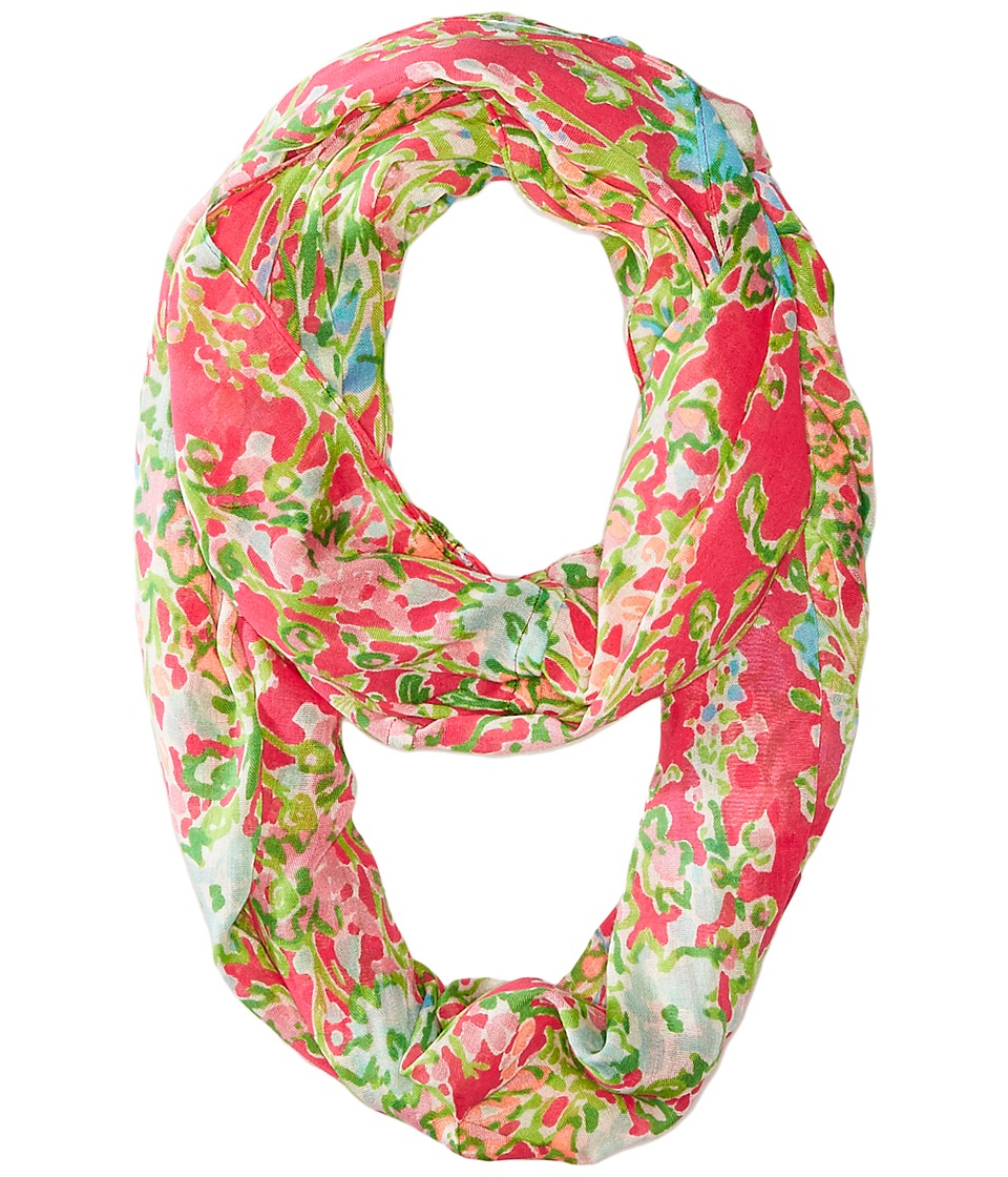 Lilly Pulitzer - Riley Infinity Loop Rayon (Flamingo Pink Southern Charm) Scarves