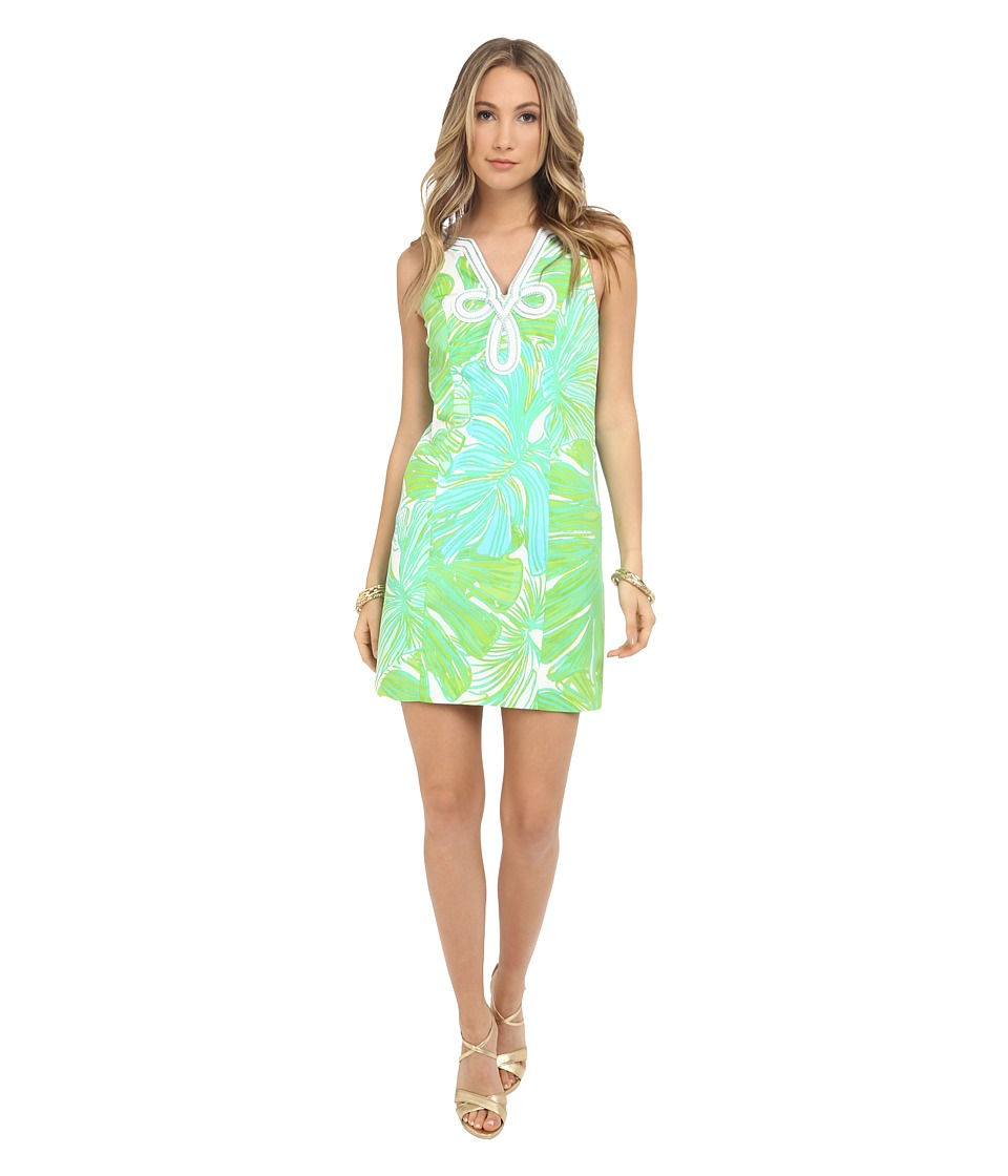 Lilly Pulitzer - Tessa Shift Dress (Green Sheen Fronds Place) Women's Dress