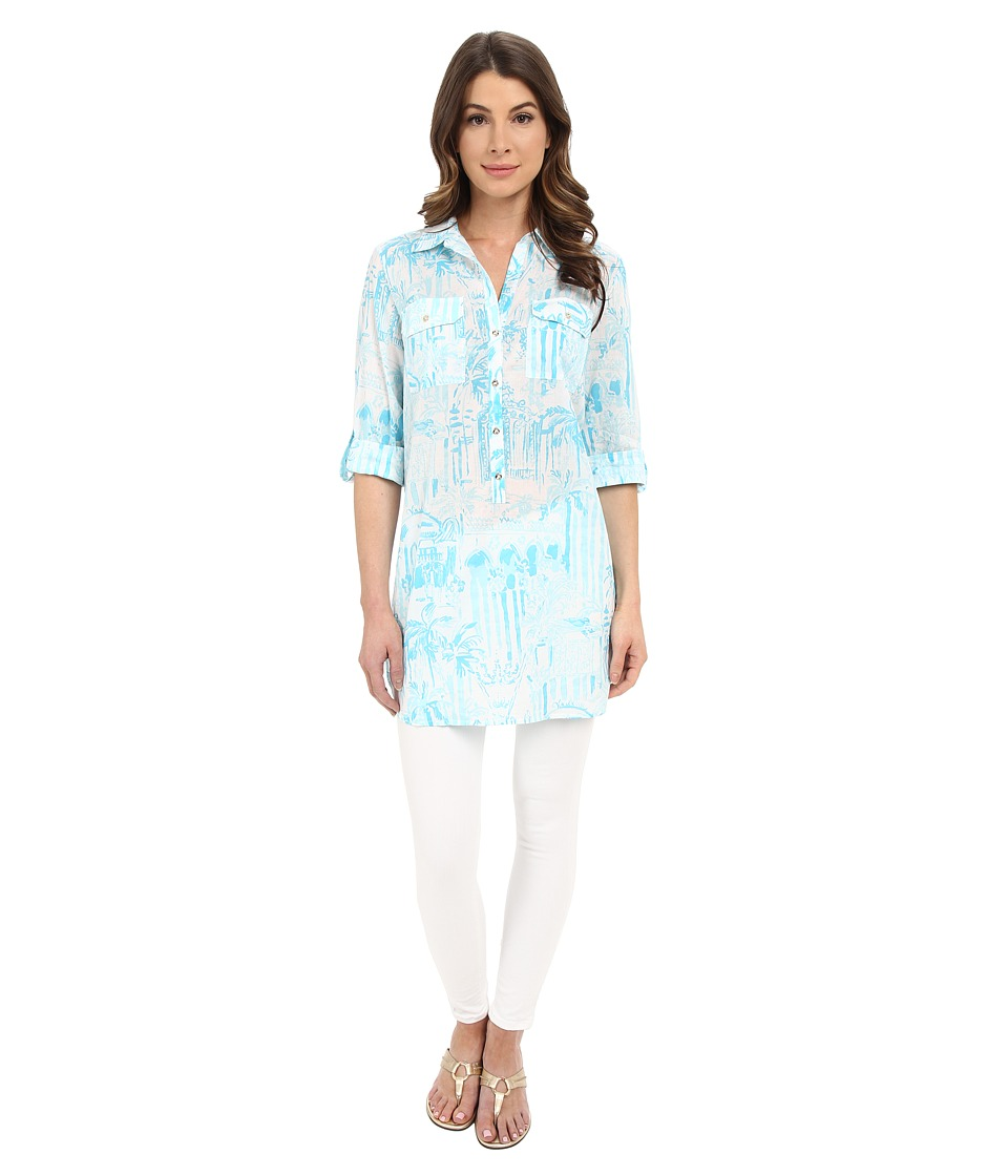 Lilly Pulitzer - Captiva Tunic (Resort White La Via Loca) Women's Dress