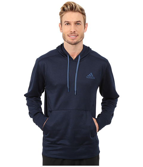 adidas - Go-To Fleece Pullover Hoodie (Collegiate Navy/Vista Blue) Men