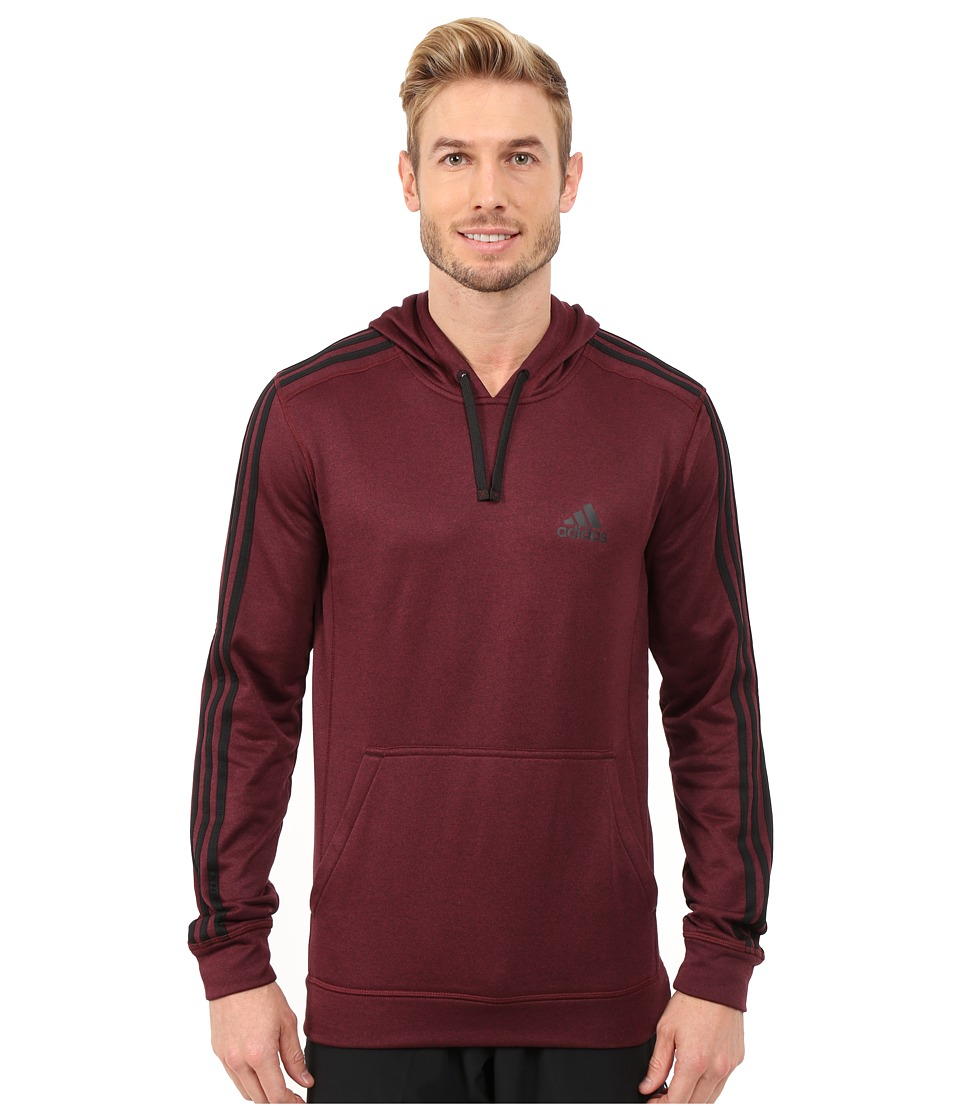 adidas - Go-To Performance 3S Fleece Hoodie (Maroon/Black) Men's Sweatshirt