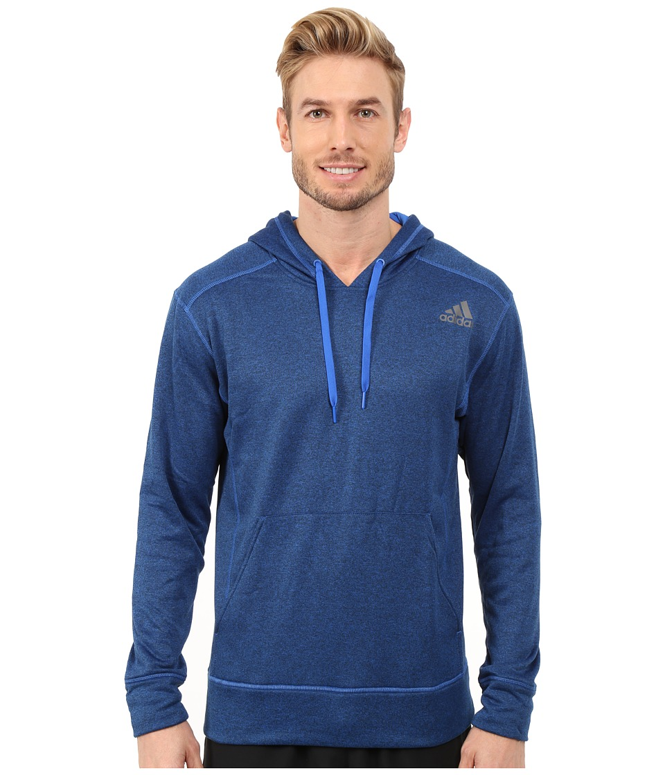 adidas - Ultimate Fleece Pullover Hoodie (Blue) Men's Sweatshirt