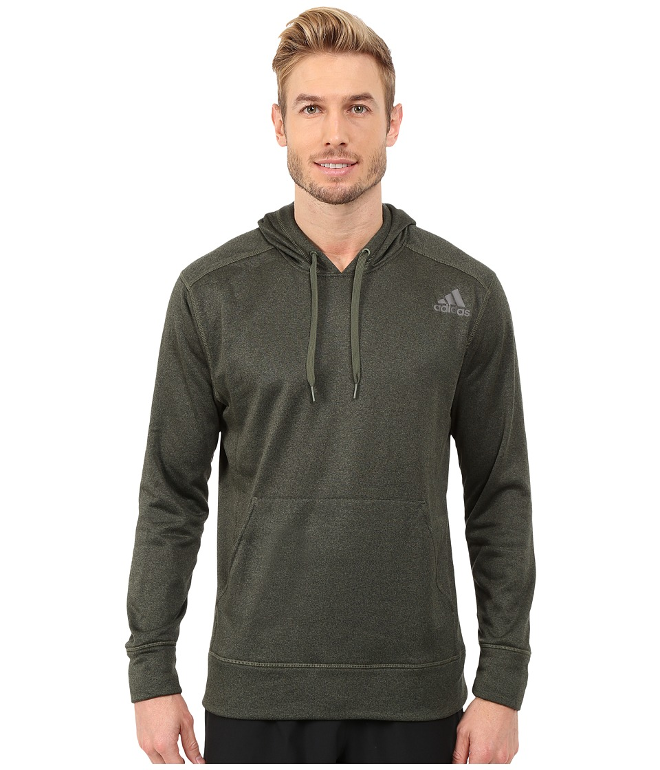 adidas - Ultimate Fleece Pullover Hoodie (Base Green) Men's Sweatshirt