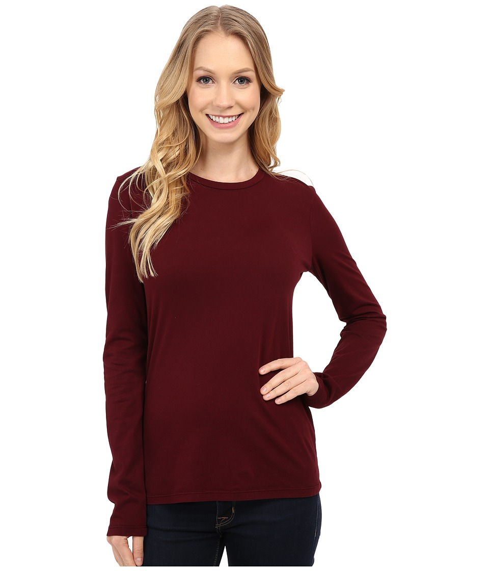 Mod-o-doc - Supreme Jersey Fitted Long Sleeve Crew (Burgundy Noir) Women's Clothing