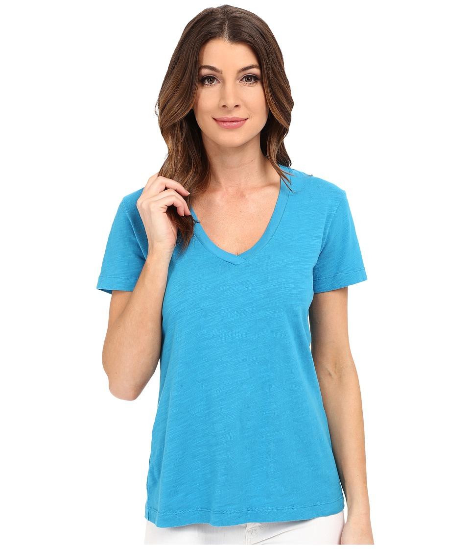 Mod-o-doc - Slub Jersey Short Sleeve V-Neck Tee (Hypnotic) Women's Short Sleeve Pullover