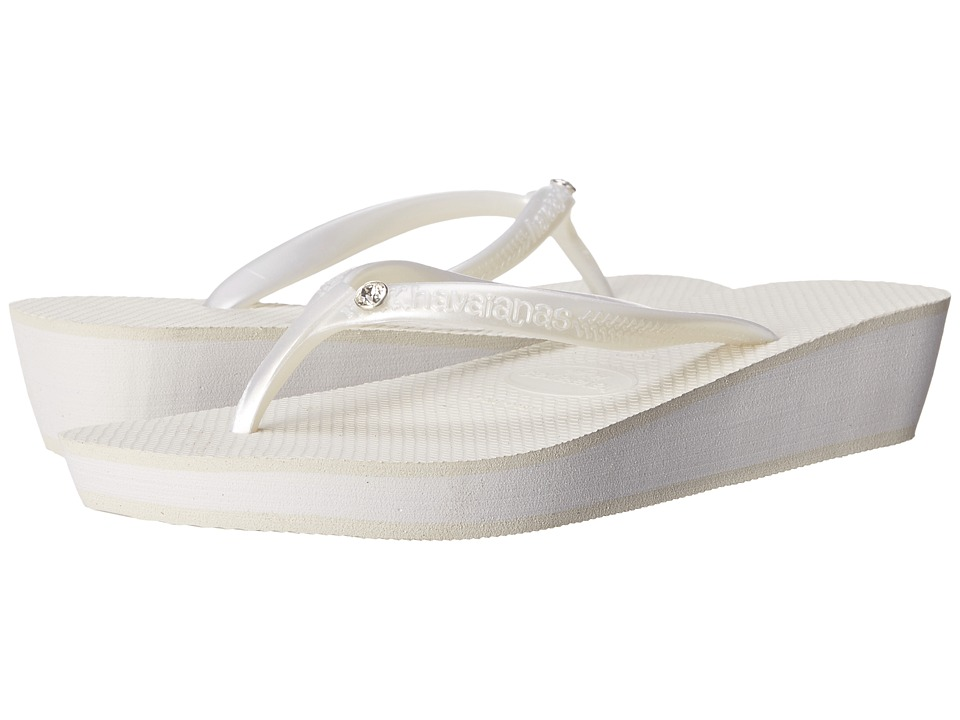 Havaianas - Highlight Glamour Flip Flops (White/White) Women's Sandals