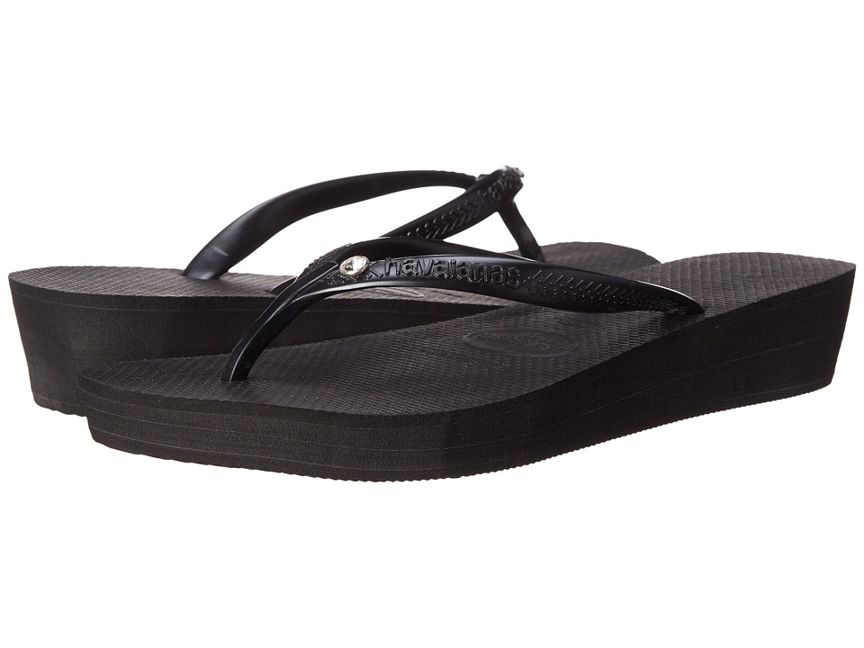 Havaianas - Highlight Glamour Flip Flops (Black/Dark Grey) Women's Sandals