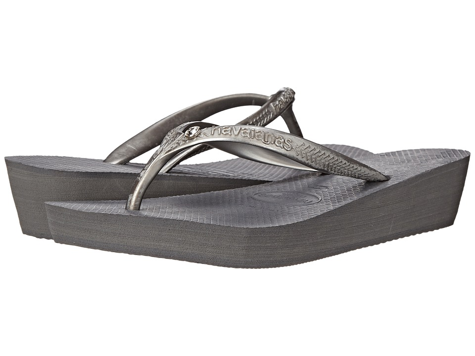 Havaianas - Highlight Glamour Flip Flops (Steel Grey) Women's Sandals