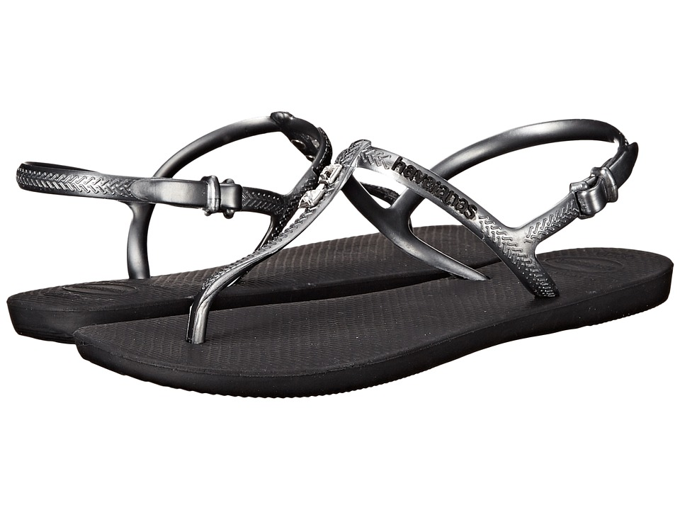 Havaianas - Freedom Glamour Flip Flops (Black/Graphite) Women's Sandals
