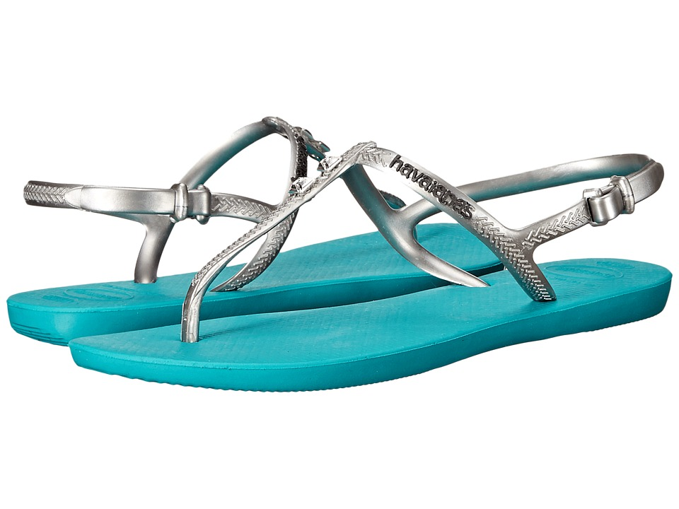 Havaianas - Freedom Glamour Flip Flops (Lake Green) Women's Sandals
