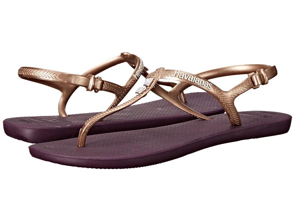Havaianas - Freedom Glamour Flip Flops (Aubergine) Women's Sandals