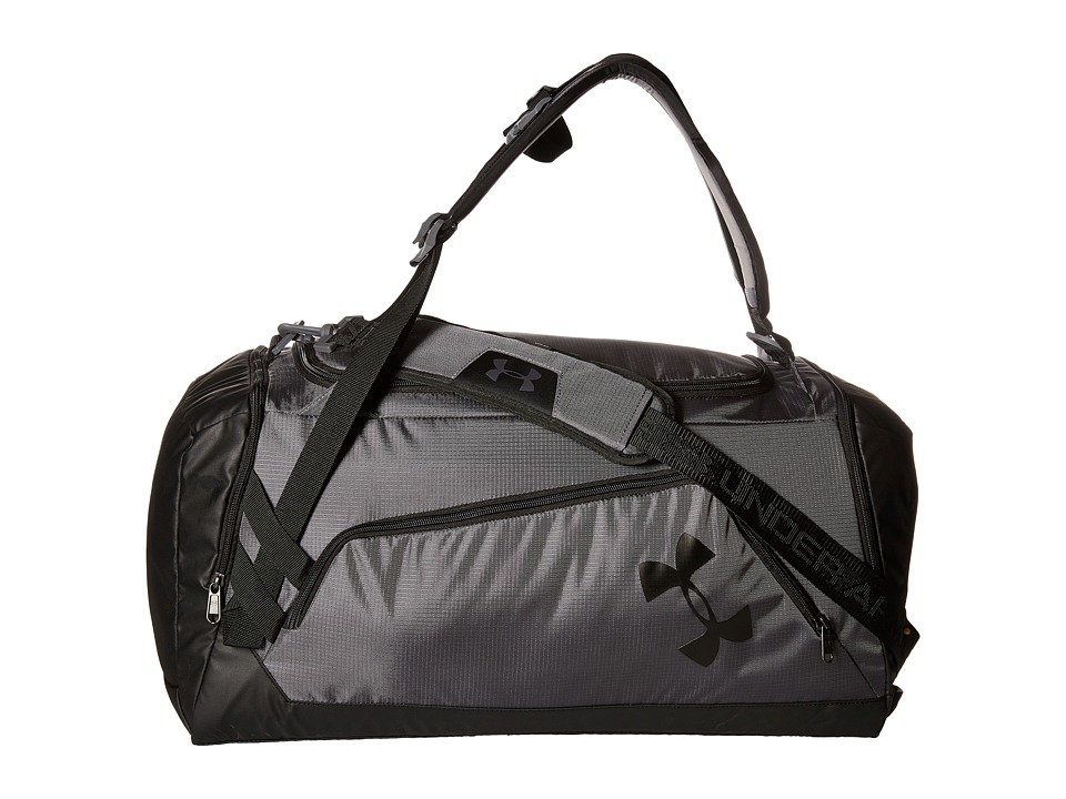 Under Armour - UA Contain Duo+ Backpack/Duffel (Graphite/Black/Black) Duffel Bags