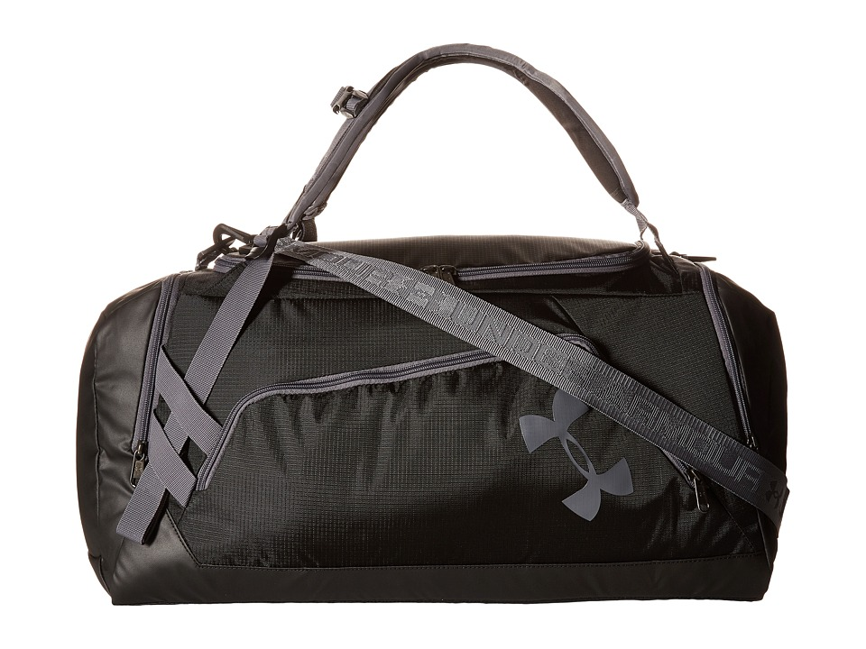 Under Armour - UA Contain Duo+ Backpack/Duffel (Black/Graphite/Graphite) Duffel Bags