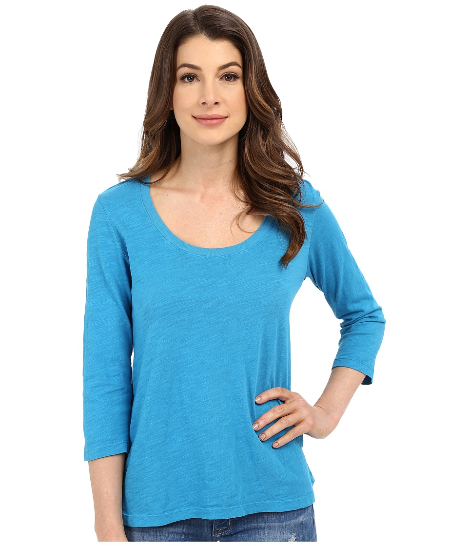 Mod-o-doc - Slub Jersey 3/4 Sleeve Scoopneck Tee (Hypnotic) Women's Long Sleeve Pullover