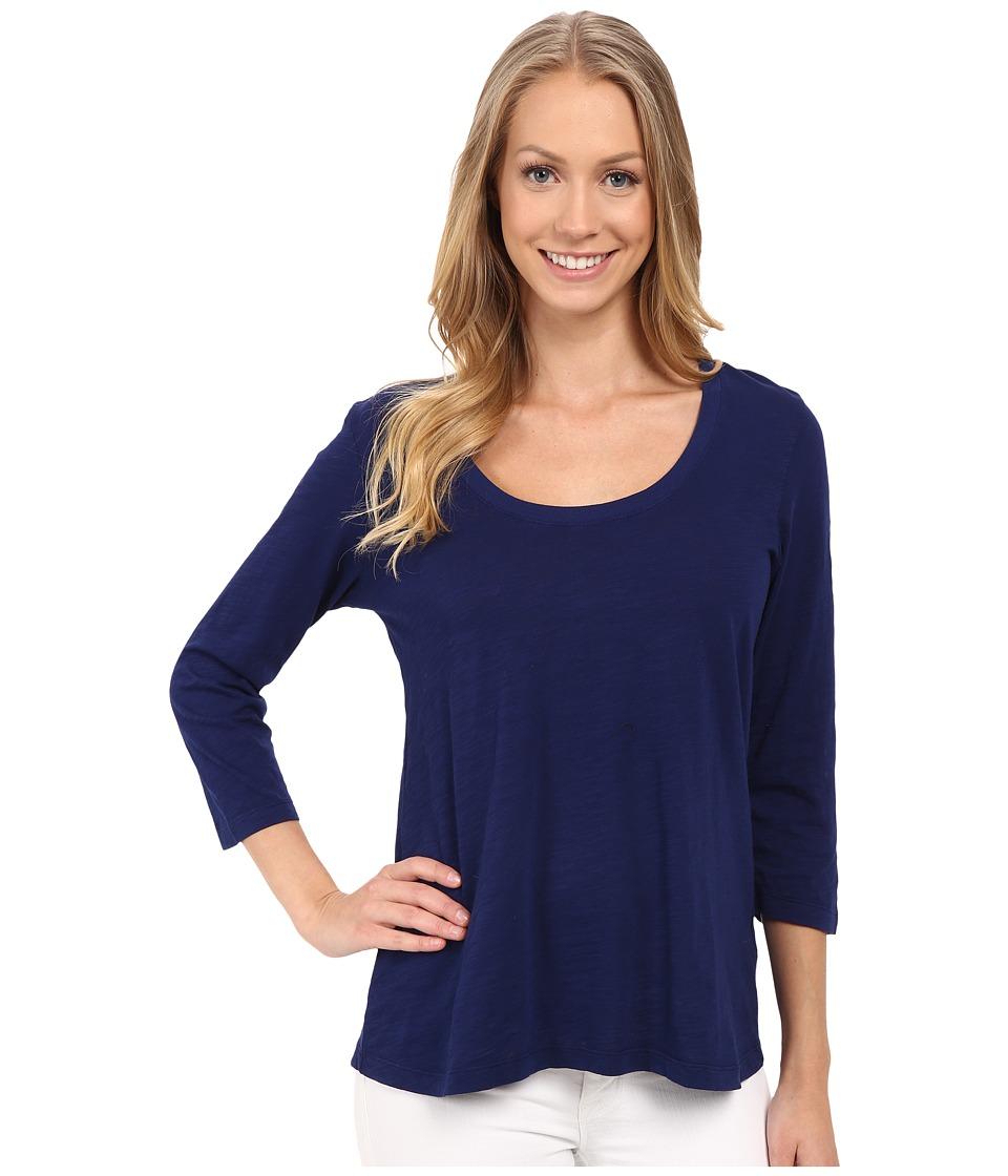 Mod-o-doc - Slub Jersey 3/4 Sleeve Scoopneck Tee (Inkwell) Women's Long Sleeve Pullover