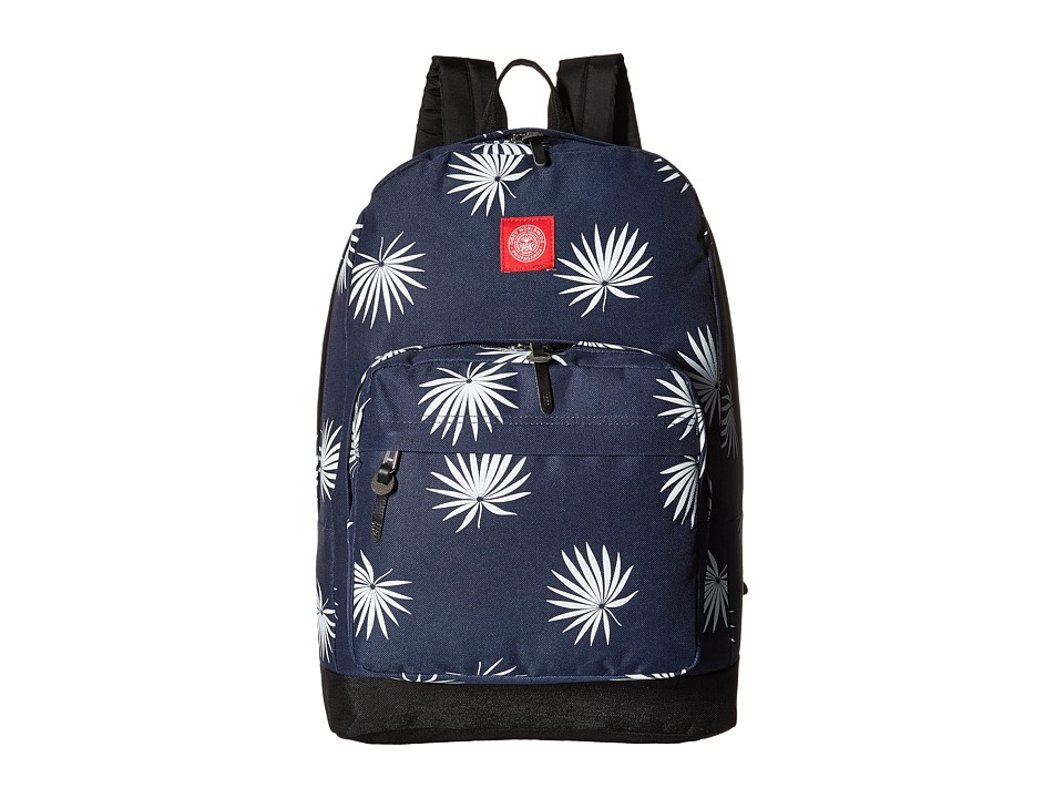 Obey - Palm Fan Juvee Backpack (Navy/White) Backpack Bags