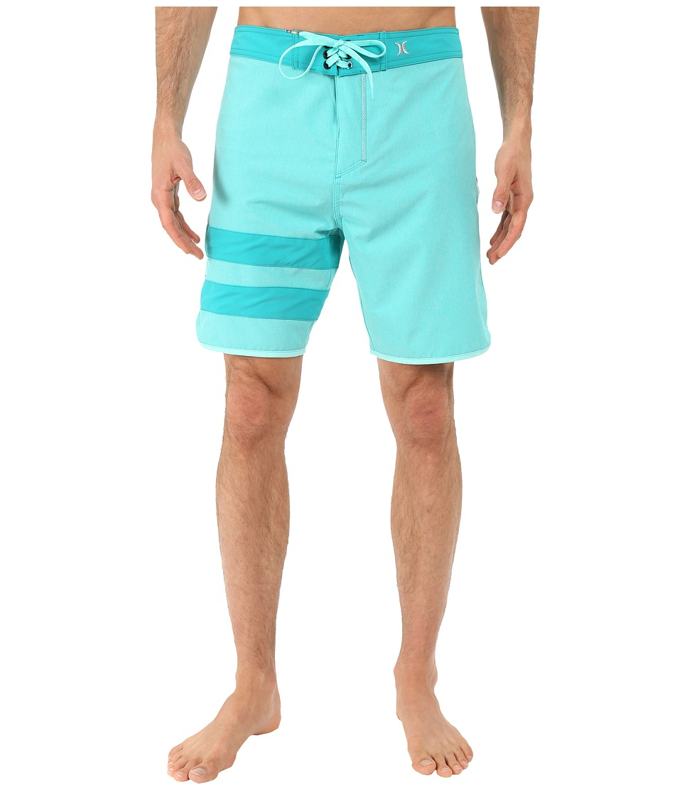 Hurley - Phantom Block Party Heather Boardshorts (Hyper Jade) Men's Swimwear
