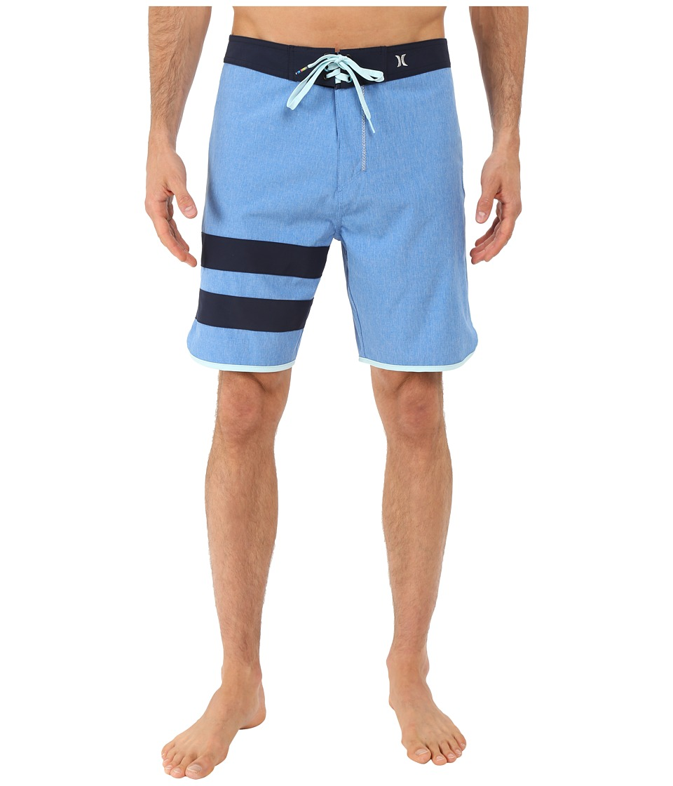 Hurley - Phantom Block Party Heather Boardshorts (Fountain Blue) Men's Swimwear