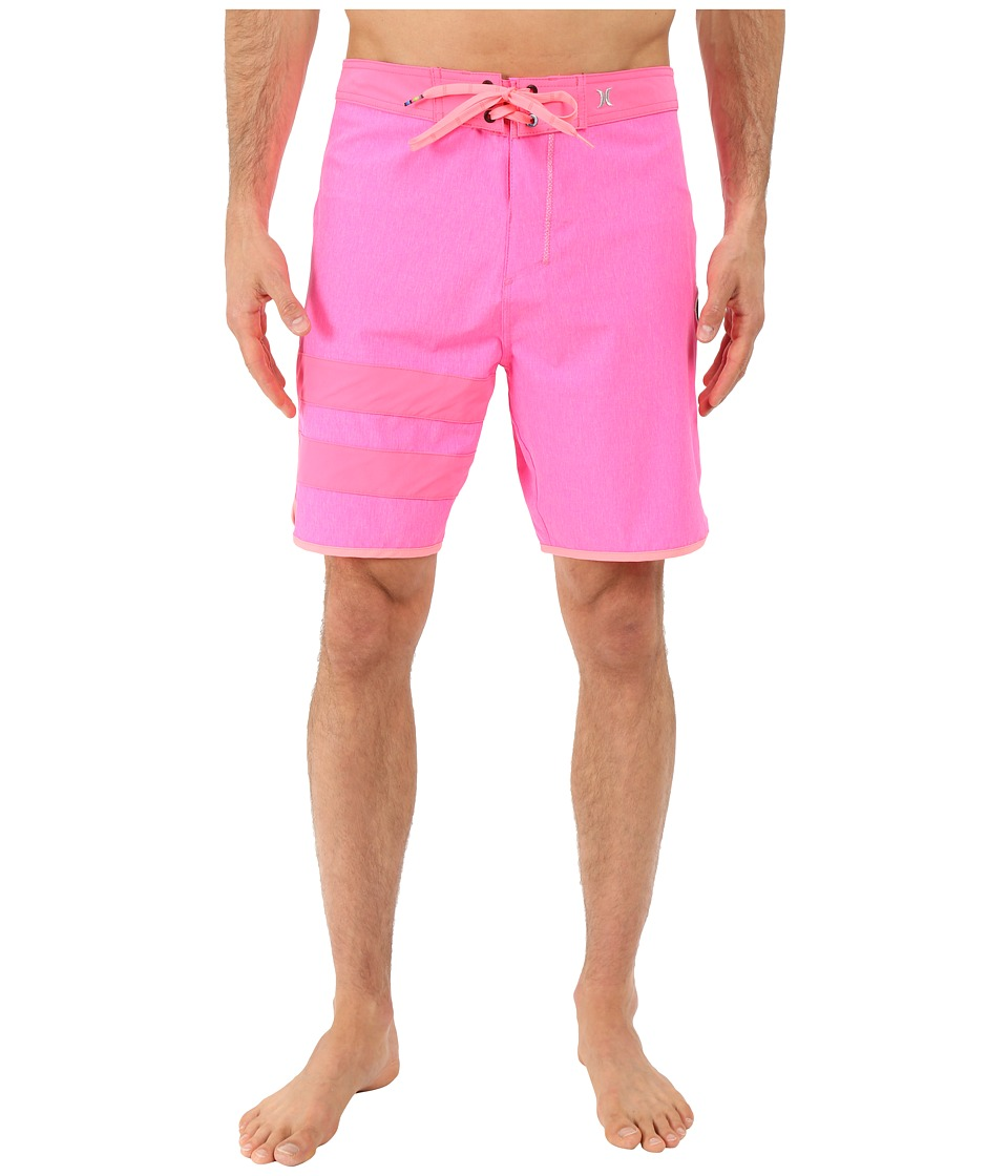 Hurley - Phantom Block Party Heather Boardshorts (Neon Pink) Men's Swimwear