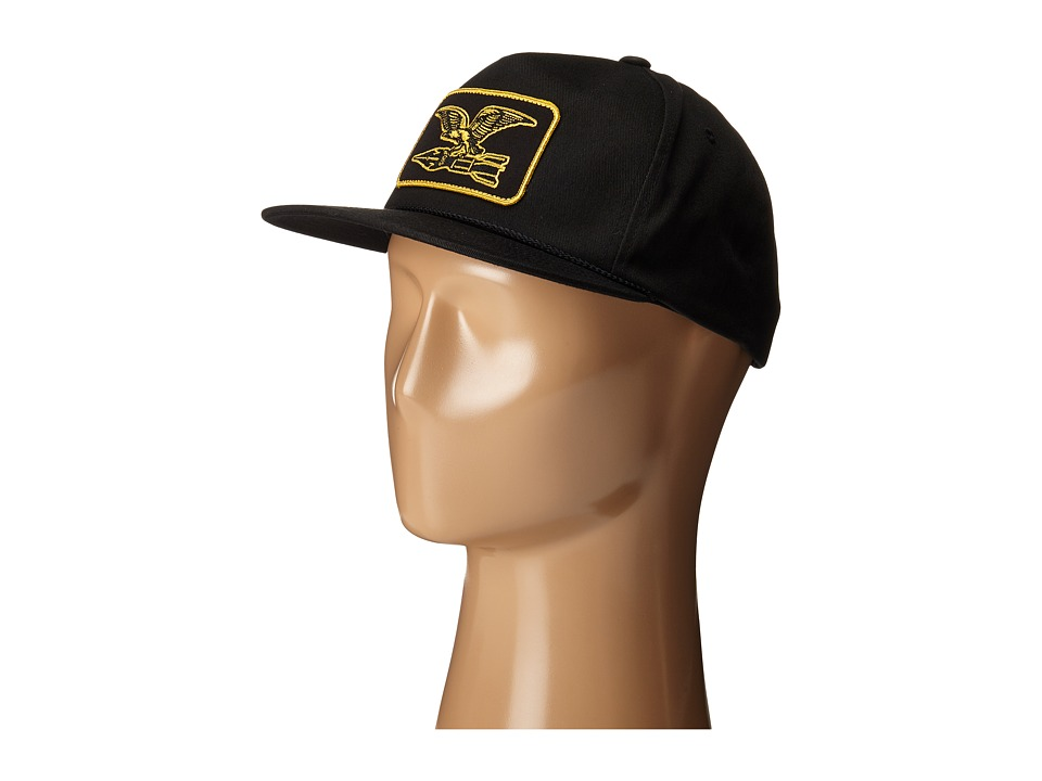 Obey - Squadron Snapback Hat (Black) Caps