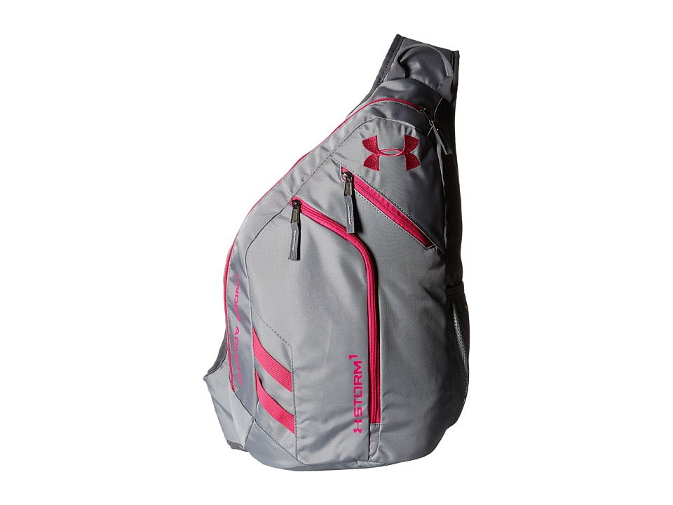 Under Armour - UA Compel Sling II (Steel/Graphite/Tropic Pink) Backpack Bags