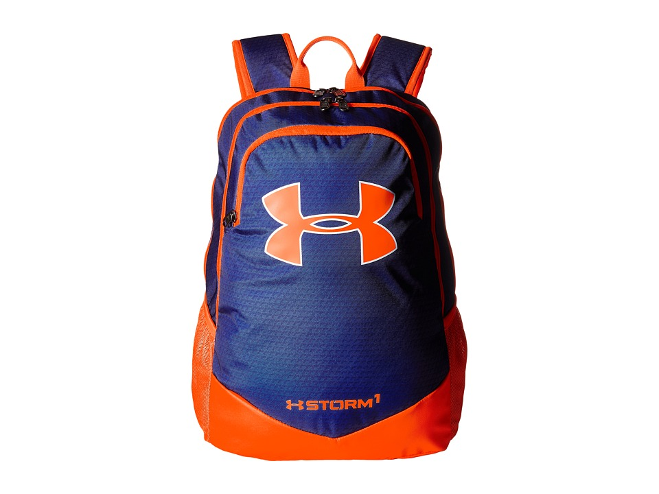 Under Armour - UA Scrimmage Backpack (Youth) (Royal/Blaze Orange/White) Backpack Bags